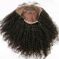 Glueless Lace Front Afro Kinky Curly Wig Remy Brazilian Human Hair Wig Black Fhf