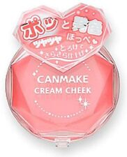 New CANMAKE Blushers Cream face Cheek 07 Coral Orange 2.3g F/S
