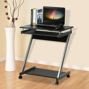 Small Computer Desk with Shelves Laptop PC Table Storage Home Office Workstation