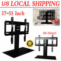 "Adjustable Universal TV Stand Pedestal Base Mount Flat Screen TV 26""-32"" 37""-55"""