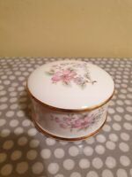 Charisma Exclusive Bone China Trinket Box. Floral Decoration