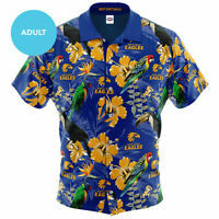 West Coast Eagles AFL 2020 Hawaiian Button Up Polo T Shirt Sizes S-5XL