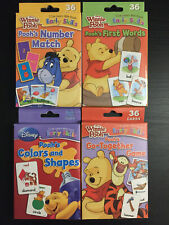 Disney Winnie Pooh Flashcards: Number, Words, Colors, Matching (Preschool)