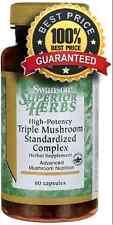 High-Potency Triple Mushroom Standardized Complex 60 Capsules Swanson