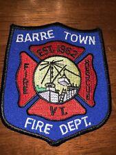 Barre Vermont Fire Department Patch