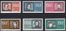 Poland Scott 1059-64 Famous Poles including Chopin, Polen NH 1962