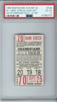 1960 RED SOX TICKET TED WILLIAMS FINAL MULTI HIT GAME & LAST VS YANKEES PSA 4