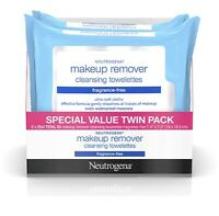 Neutrogena Makeup Remover Cleansing Towelettes Face Wipes 25 count, 2 Pack