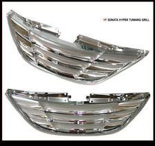 (Fits: Hyundai 2010 - 2013 Sonata YF) New Radiator Grille Chrome Color