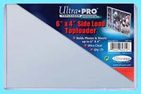 "25 ULTRA PRO 6""x4"" SIDE LOAD TOPLOADERS NEW Postcard Photo Sheet Holder Topload"