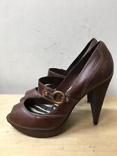 Women leather high heel shoes size 7/40 RIVER ISLAND