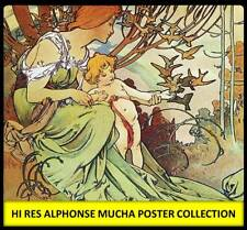 DVD ALPHONSE MUCHA ART NOUVEAU POSTERS HI RES COLLECTION 1898 Print Deco Print