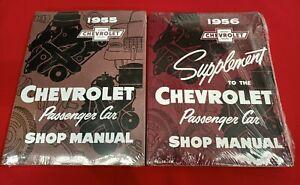 1955 Chevrolet Passenger Car Factory Workshop Manual + 1956 Supplement