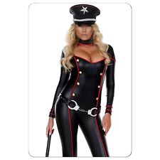 Sexy Halloween Military Soldier Catsuit Costume S/M New!