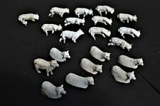 O Gauge Model Railway Accessories - Hand Painted White Metal Sheep x 20