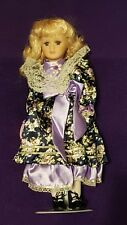 """MAND"" COLLECTIBLE PORCELAIN DOLL BY MENIE - 15.5"" TALL - NEW IN BOX"