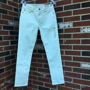 american eagle outfitters white denim jeans men's 30/32 slim extreme flex NWT
