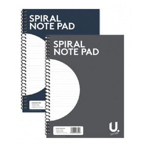 3 X A4 SPIRAL NOTEPAD Colour Assorted Ruled 80 Pages Wired Office Jotter Pad
