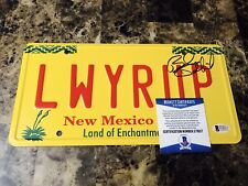 Bob Odenkirk Rare Signed Better Call Saul Prop License Plate Lawyer Up LWYRUP