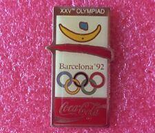 Pins COCA COLA J.O. Affiche 25 ème OLYMPIAD BARCELONA 1992 Jeux Olympique