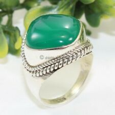 Green Onyx Solid 925 Sterling Silver Ring Handmade Jewelry - ANY SIZE