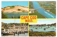 Undated Unused Postcard Greetings from Cape Cod Massachusetts MA 4 views