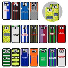 RETRO FOOTBALL SHIRT | Protective Rubber Bumper Case/Cover for Galaxy S8 S9 PLUS