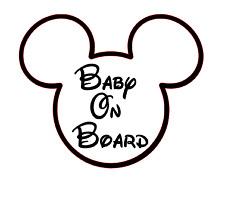 Bebé a Bordo Pegatina de Coche Ventana Calcomanía Personalizado De Peluche Disney Niños Asiento de Coche 210 mm