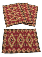 Red River Southwestern Design Jacquard Place Mats Set of 4 13x19 inches