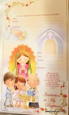 Invitations Bautizo English Christening baptism Party 10 Invitaciones Virgencita