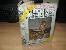 JM Barrie Peter Pan in Kensington Gardens 1929 1st DJ Arthur Rackham illustrated