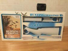 Nintendo Wii Hunting CHALLENGE + BALL-TRAP [Wii-GIOCO] accessori