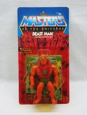 MOTU,VINTAGE,BEAST MAN,Masters of the Universe,MOC,carded,figure,He-Man