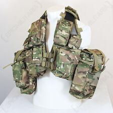 12 Pocket Multitarn Camo Tactical Vest - Assault Combat Airsoft Cadets Paintball