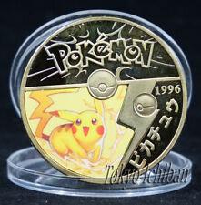 PIECE POKEMON PIKACHU - GOLD METAL COIN - CARTE CARD - GO V5