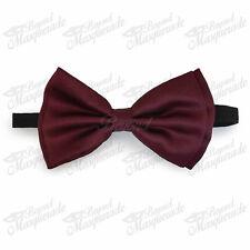 Burgundy Bow Tie Adjustable Pre-tied Clip-on  Bow Tie Necktie Ties