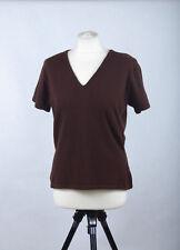 L145/49 Warehouse Brown Wool  V Neck Short Sleeved Stretch Jumper, UK16 Euro 42