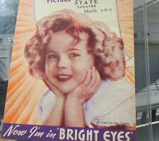 Shirley Temple Bright Eyes Movie Poster Herald Original 1934 Color Gorgeous Cond