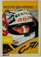 Renault Sports Exclusio Formel 1 F1 Newsletter from 1992 Williams FW14B Mansell