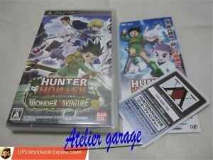 W/Limited Card USED PSP Hunter X Hunter Wonder Adventure Japanese Version B