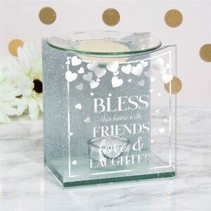 Wax Melt Oil Burner Bless The Home with Friends Love and Laughter