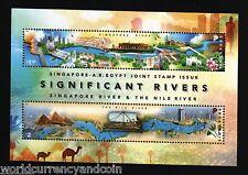 SINGAPORE 3.10 DOLLARS 2011 EGYPT PYRAMID NILE BOAT CAMEL JT ISSUE STAMP SHEET