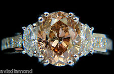 █$35000 GIA 4.82CT NATURAL FANCY ORANGE BROWN COLOR DIAMOND RING █ EXCELLENT