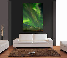 NORTHERN LIGHTS AURORA BOREALIS Giant Wall Art Print Picture Poster