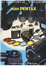 Pentax Spotmatic Camera & Screw Mount Lens System Guide, Other Brochures Listed