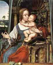 Massys Quentin Virgin And Child A3 Box Canvas