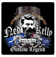 NED KELLY DECAL eureka australia  Size apr 90 mm by 90 mm  gloss laminated