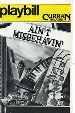 AIN'T MISBEHAVIN FATS WALLER NELL CARTER PLAYBILL 1979