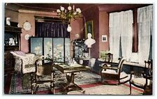 1908 William Jennings Bryan's Drawing Room in his Lincoln, NE Home Postcard