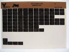 Yamaha FJ1200 1987 FJ1200T FJ1200TC Parts List Manual Microfiche n77